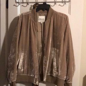 Pink or Mauve? Velvet bomber jacket